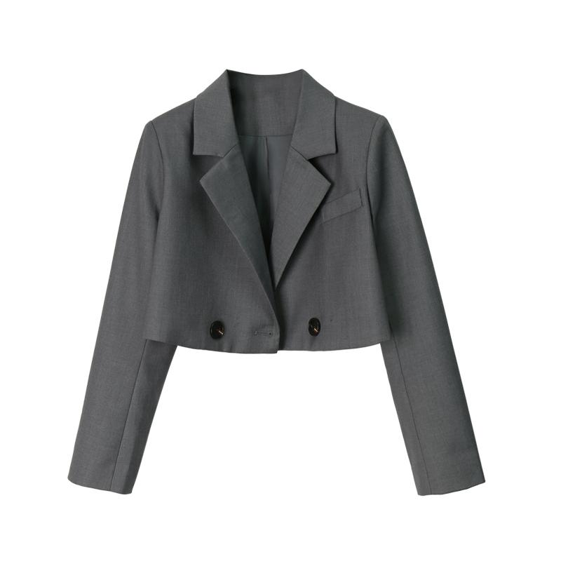 小宸 高品质版 超短款翻领小西装外套女 春秋新款修身小西服上衣