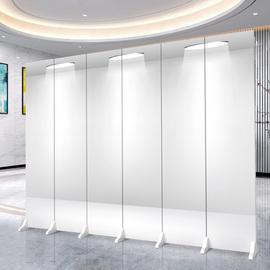 定制屏风办公室隔断形象墙移动折叠装饰遮挡门口公司折屏简约现代
