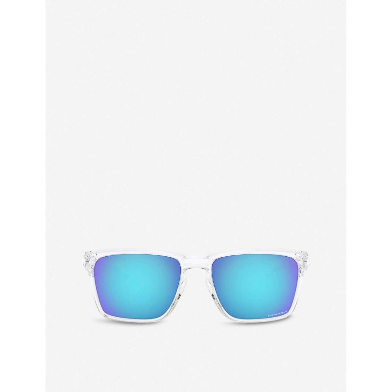 Oakley womens and mens oo9448-57 sylas rectangular frame acetate sunglasses sunglasses