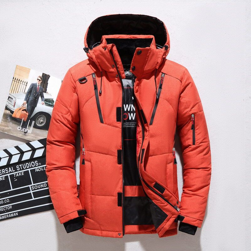 New style mens down jacket short outdoor sports slim Hooded Winter thickened warm youth large size jacket fashion