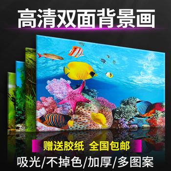 鱼缸背景贴纸背景纸画高清图装饰画