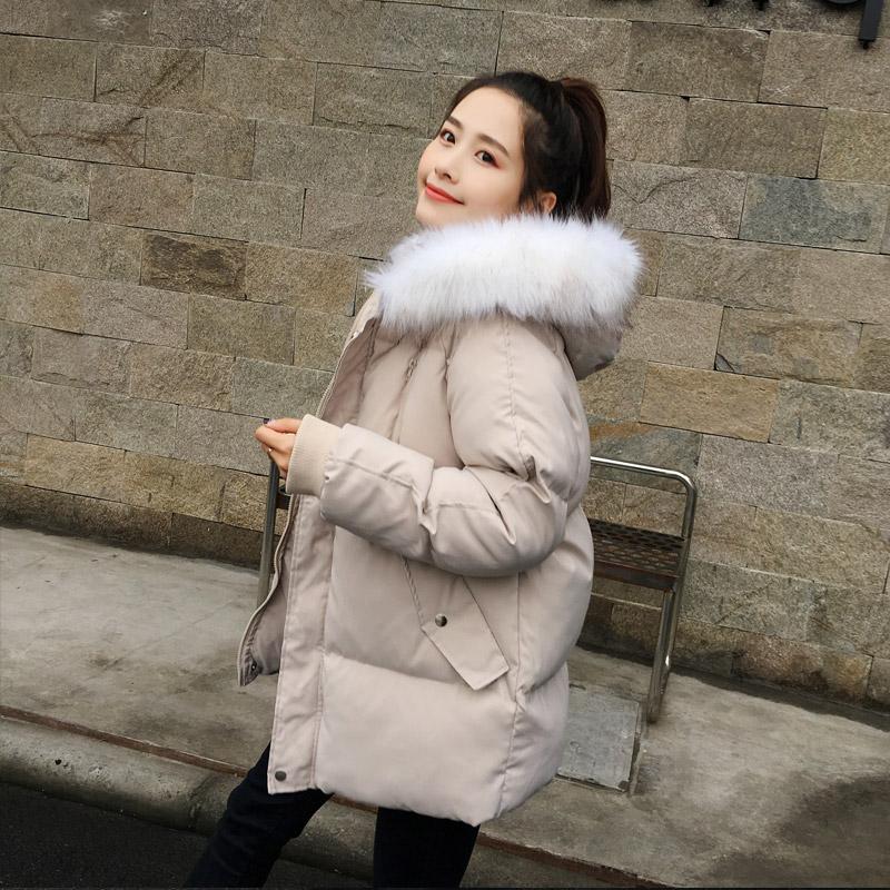 棉服女中长款面包服韩版宽松学生棉袄2019年新款冬季棉衣ins港风
