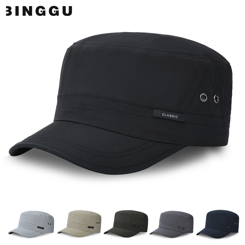 帽子男夏季中老年人平顶帽薄款户外休闲遮阳鸭舌帽老人爸爸防晒帽