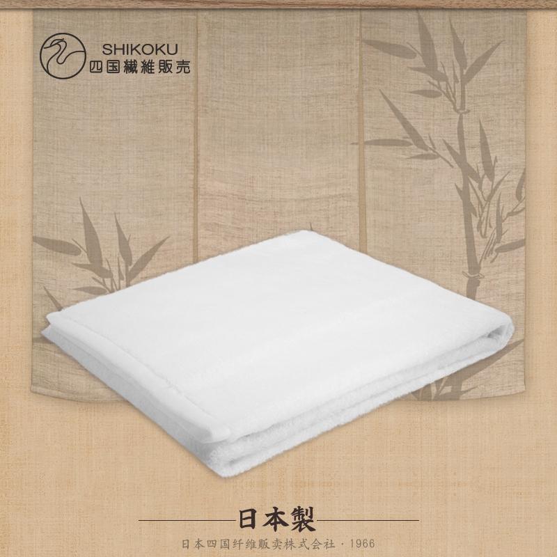 日本进口一朵今治毛巾抗敏埃及长绒棉花纹浴巾白色浴巾