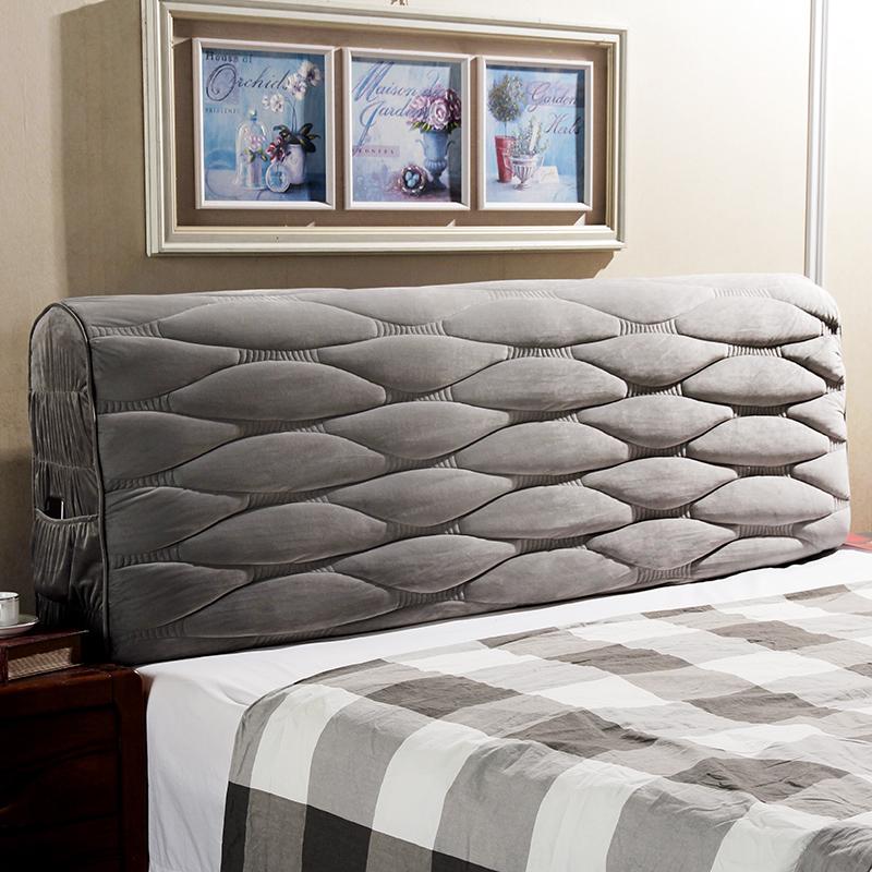 热销38件正品保证2018新欧款柳编床头罩套加厚防尘罩