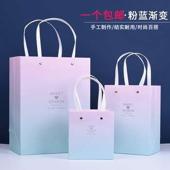 Ins wind small birthday gift bag back LiDai clothing bags