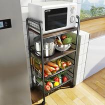 厨房菜篮子置物架落地多层移动推车果蔬菜收纳筐储物家用放菜架子