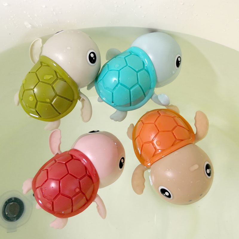 Little turtle bathing toy children swimming baby Paiqi little duck yellow duck girl boy playing water