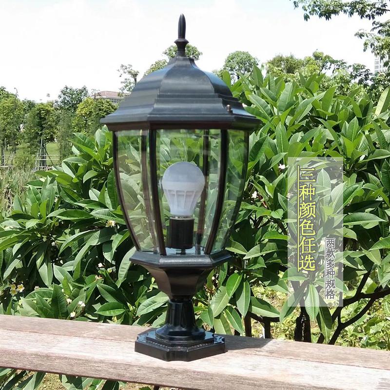 Column lamp outdoor waterproof Garden Villa European wall lamp outdoor wall gate column decorative landscape garden lamp
