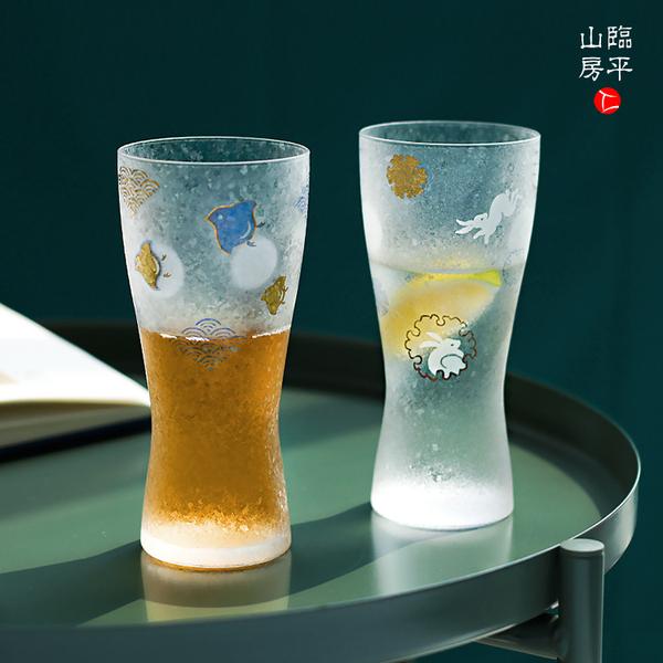 石塚硝子雪花啤酒杯,结婚生日礼物对杯