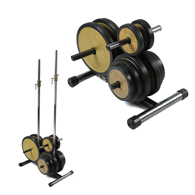 Barbell dumbbell piece bar large hole small hole storage rack household storage rack storage and sorting rack