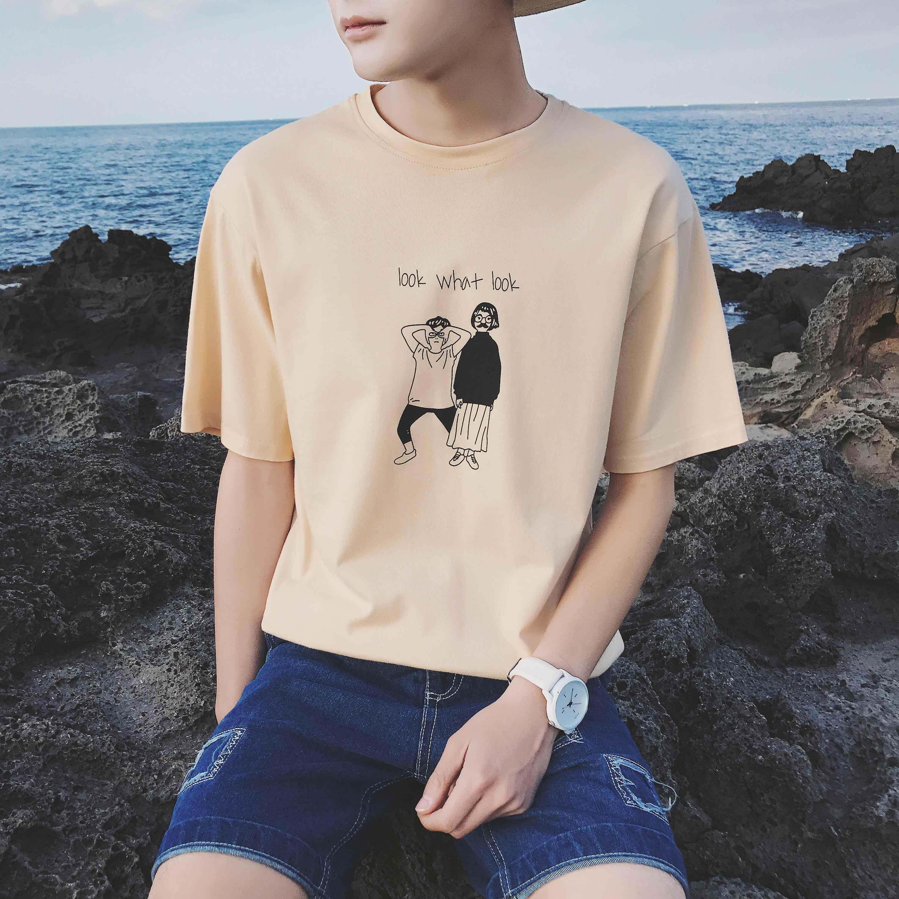 青少年韩版修身短袖T恤10元以下男装衣服9.9元包邮特价清仓九块九