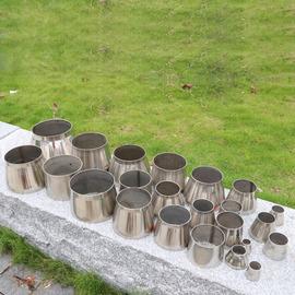 304不锈钢变径喇叭口转换接头锥形管弯头配件大变小大小头异径筒图片