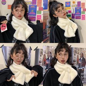【今年超火哒!】韩版可爱毛绒纯色围脖围巾