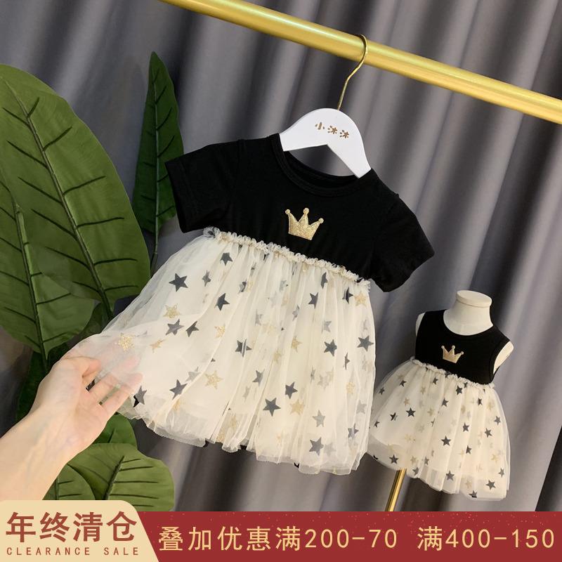 女寶寶夏裝2019新款超洋氣女童連衣裙小童裙子小女孩公主裙 蓬蓬