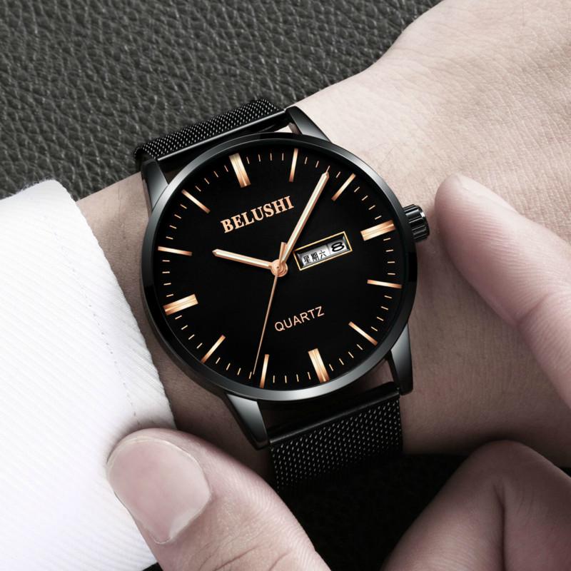 新款手表男学生男士手表运动石英表防水时尚潮流非机械表男表2018