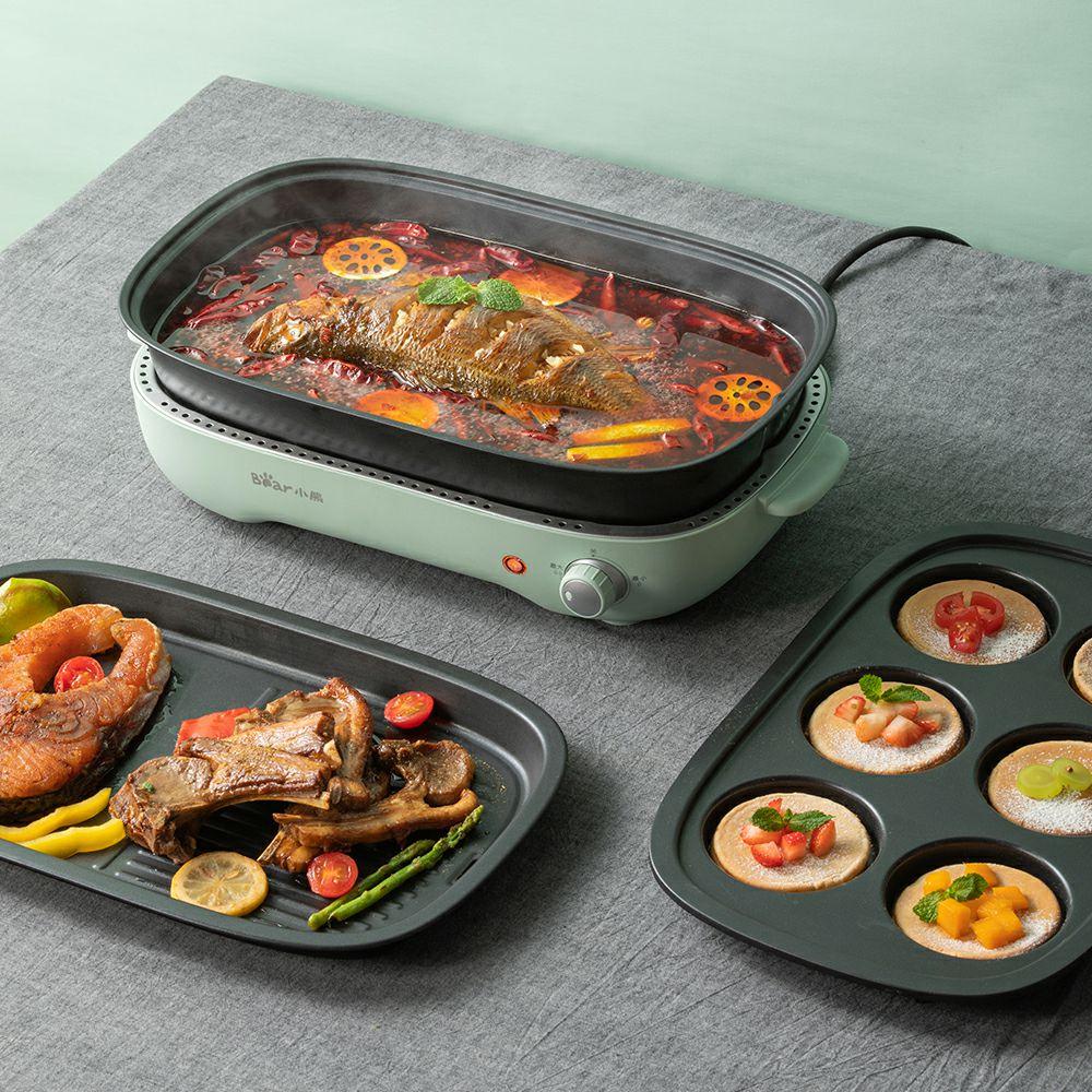 小熊火锅烧烤一体烤肉机家用电烤盘