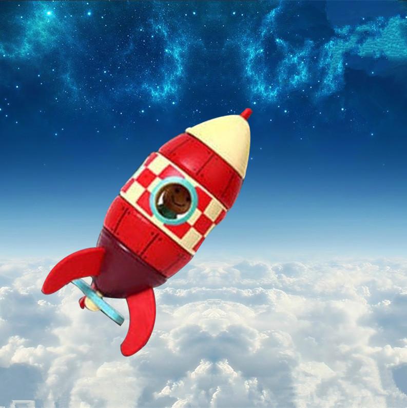 火箭模型发射拼装小火箭航天男孩子儿童玩具火箭早教益智2-3-6岁