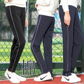 纯棉校裤男女一条杠白边初中蓝色高中学生大码春秋含棉校服裤子棉图片
