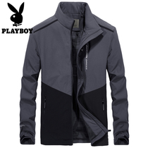 Playboy Autumn Winter Jacket man new trend warm cotton clothes casual mens cotton thickened mens coat
