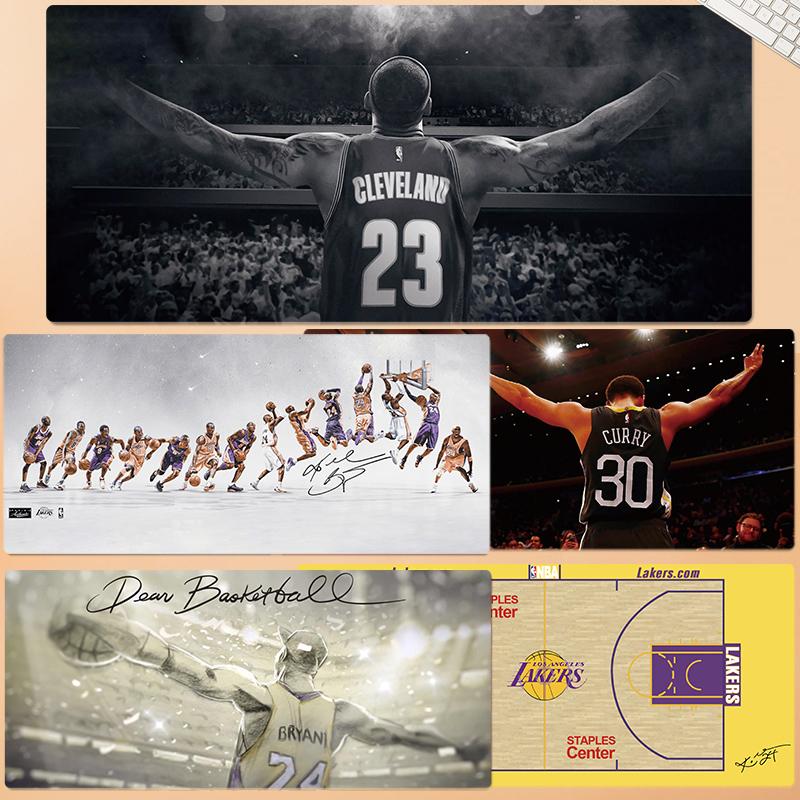 nba鼠标垫超大篮球勇士湖人队库里科比乔丹欧文詹姆斯杜兰特桌垫