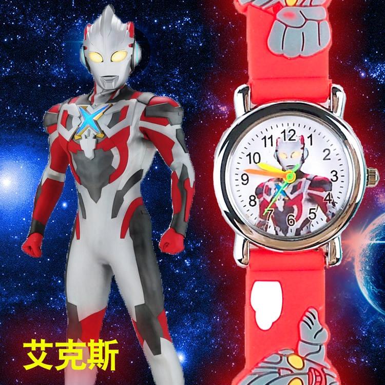 奧特曼兒童手錶男女孩小學生可愛卡通幼兒園網紅玩具蜘蛛俠電子錶