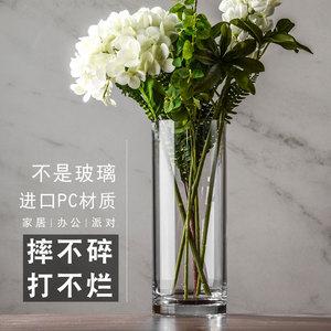 北欧花瓶摆件防摔客厅富贵竹花瓶