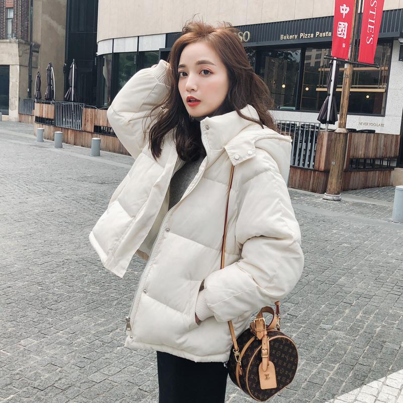 棉服2020年新款羽绒棉衣女冬短款韩版宽松bf学生面包服小个子外套