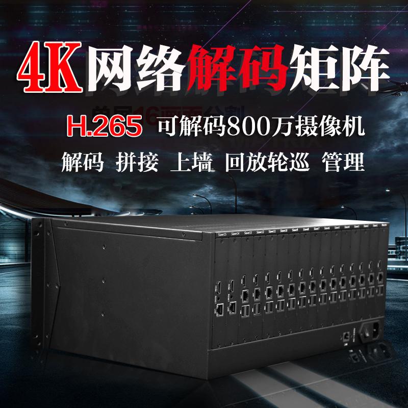 4 экран H.265hdmi сеть цифровой видео hd декодирование переключение квадрат передний противо монитор устройство главная эвм море мир большой цветущий