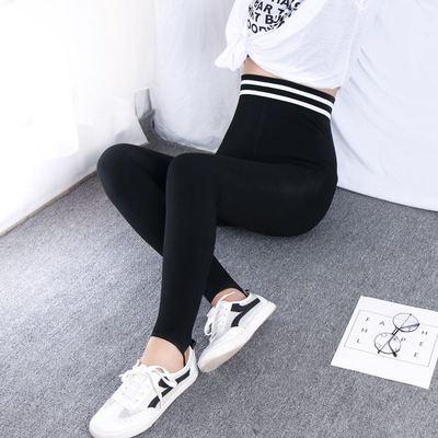 加绒女秋冬款显瘦弹力裤网红健身打底裤踩脚(非品牌)