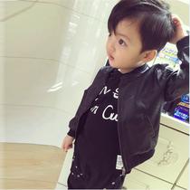 3岁男小童韩版外套儿童洋气童装女童夹克男宝宝皮衣2021春秋装1