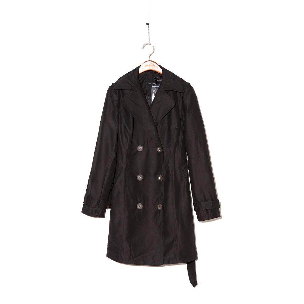 NEW系列春裝新款風衣女中長款韓版修身顯瘦女式大衣外套潮 黑色