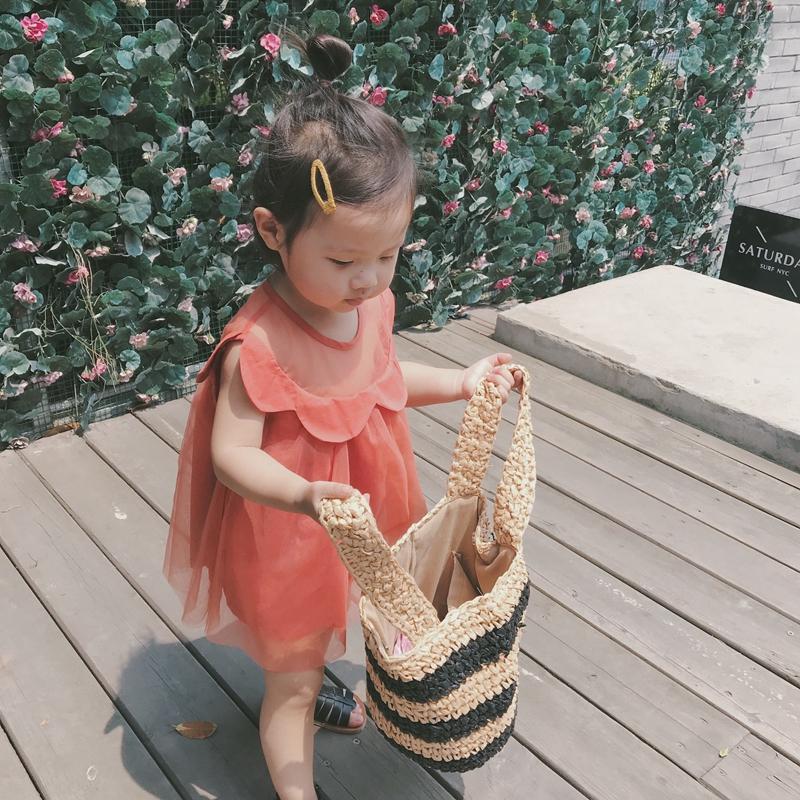 Sara sauce new summer dress childrens dress girl baby princess gauze skirt sleeveless one-piece dress