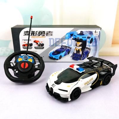遥控撞击变形汽车金刚无线遥控车机器人充电版电动儿童玩具车男孩