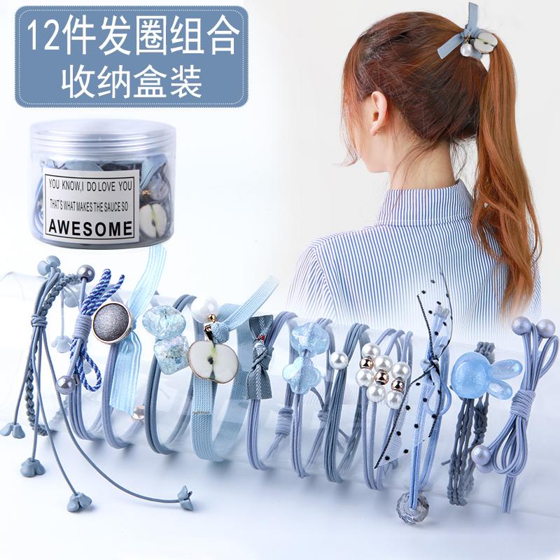 韩版网红发圈可爱手链头绳女扎头发橡皮筋发带饰品简约发绳发饰女