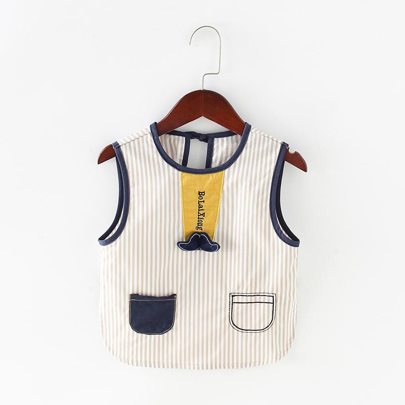 夏季儿童罩衣防水防脏宝宝吃饭衣围兜反穿衣纯棉薄款婴儿喂饭围裙图片