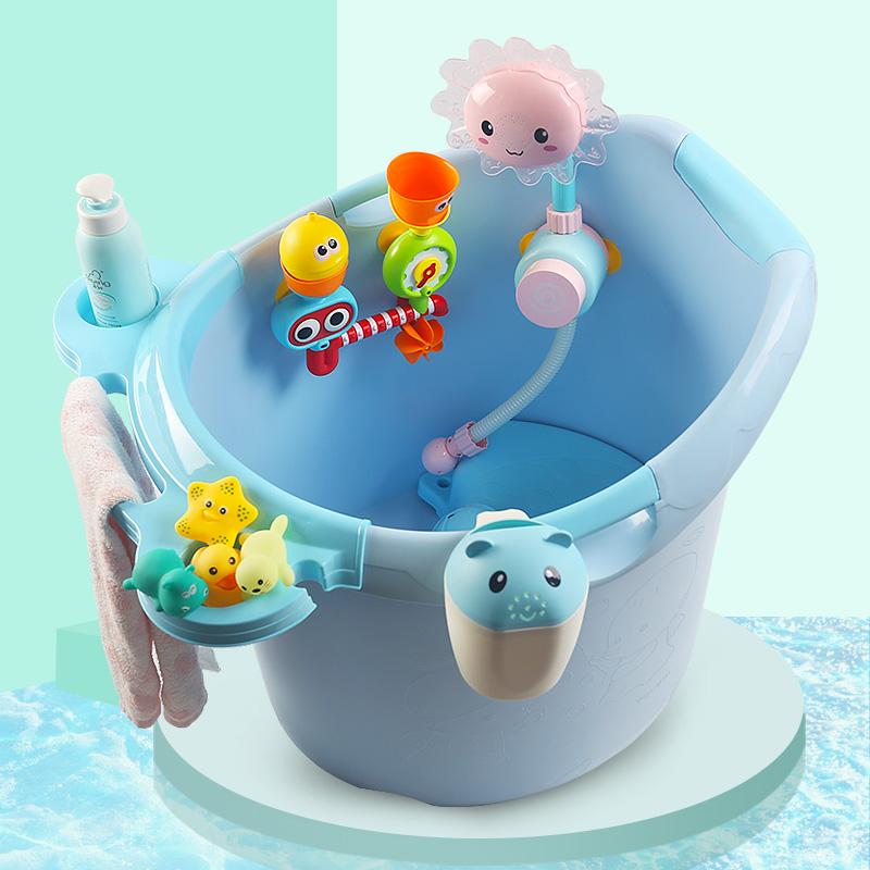 宝宝洗澡桶家用可坐儿童浴桶保温加大婴儿洗澡盆小孩泡澡桶浴盆厚