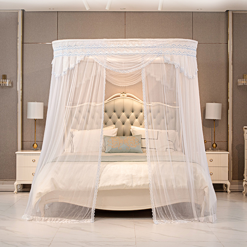 Touch miss summer mosquito net 1.8m bed curtain 1.5m bed curtain of stainless steel guide rail without installation
