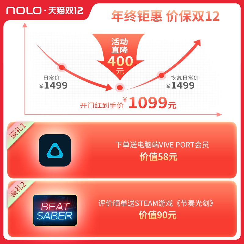 Genuine Nolo N1 game suit for smart phone VR glasses 3D virtual reality somatosensory game VR