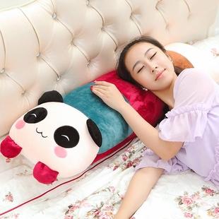 卡通熊猫枕头毛绒玩具公仔熊猫娃娃床上抱枕儿童靠枕生日礼物女生