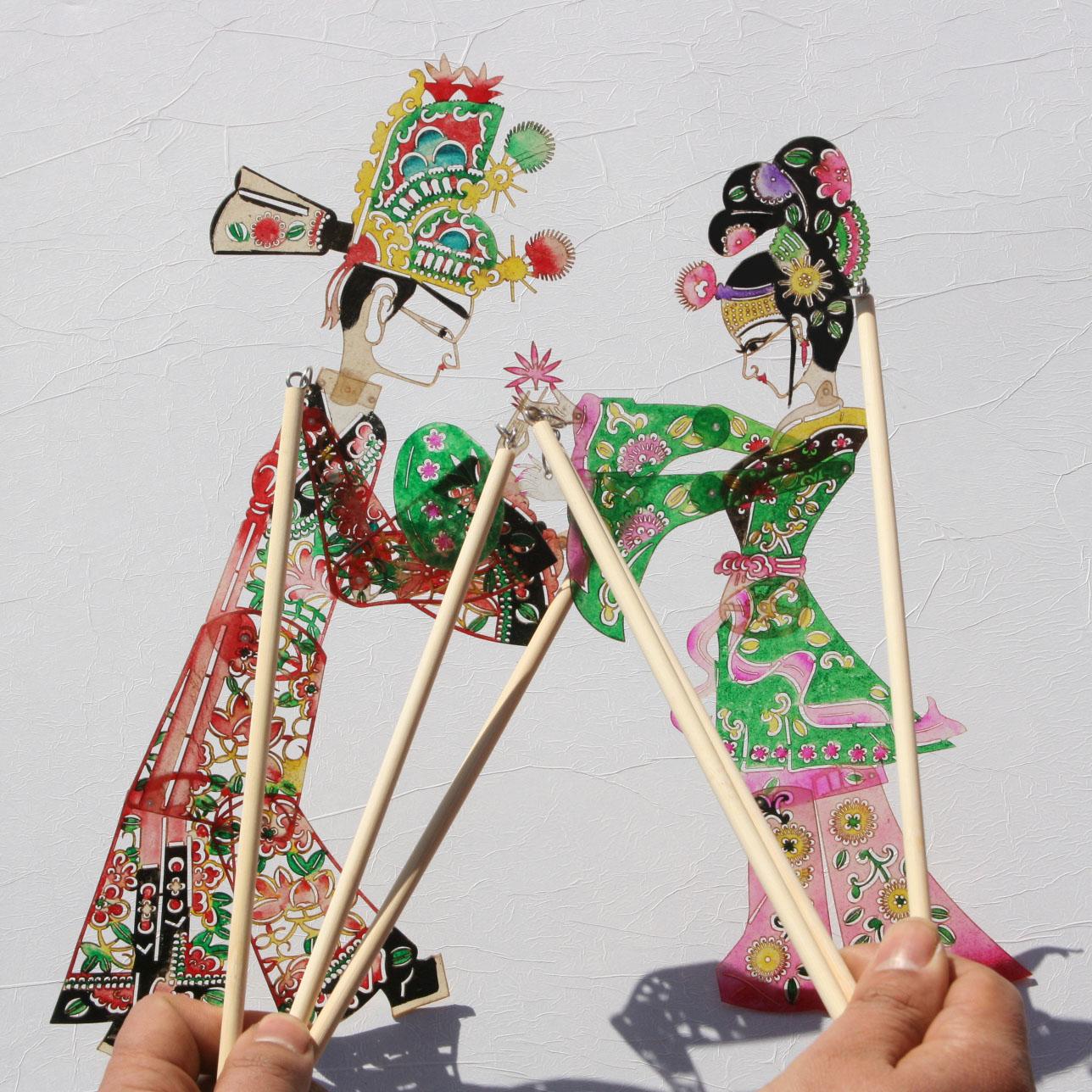 皮影戏手工艺品皮影人偶纪念品送外国人的中国礼物中国特色小礼品