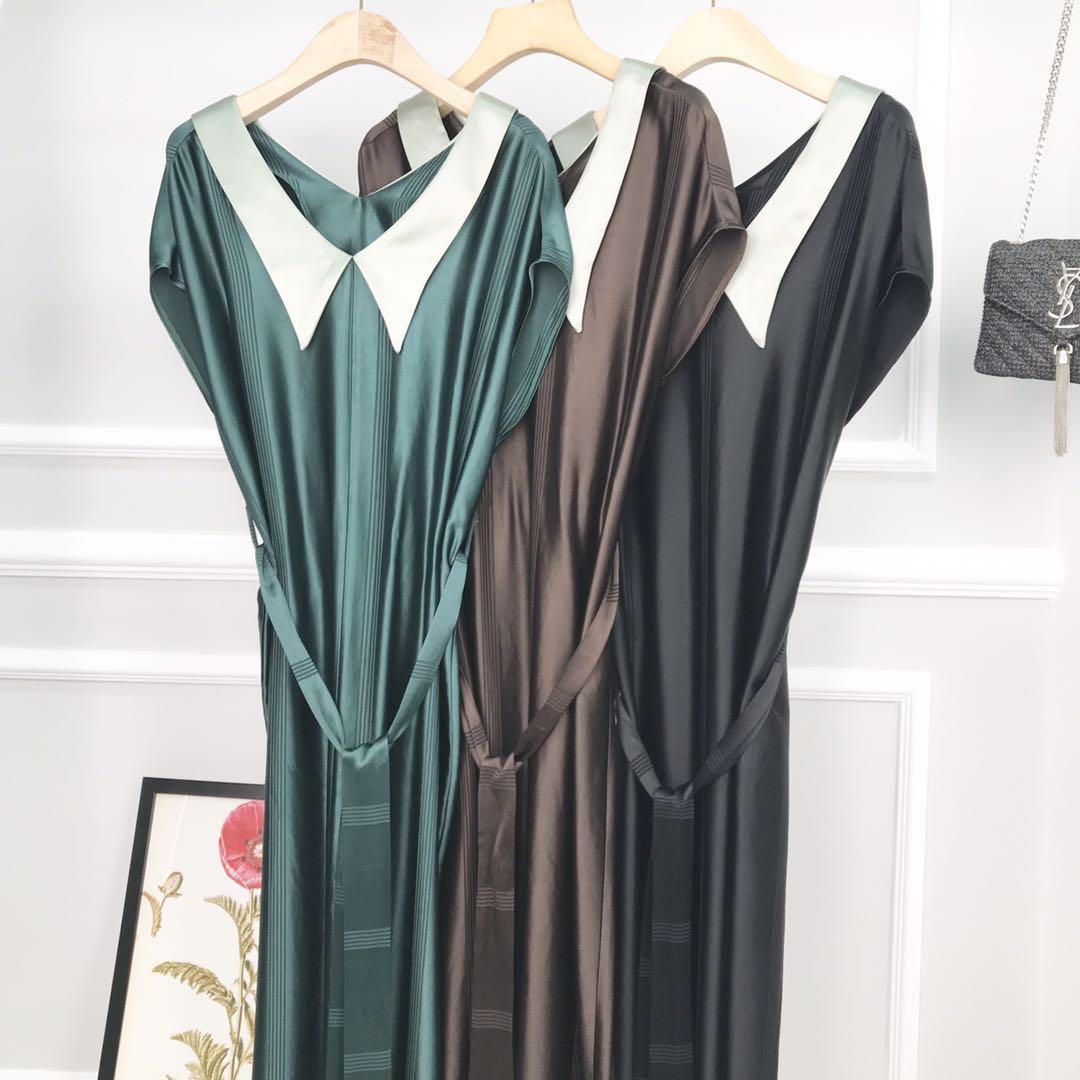 2020新款夏季醋酸优雅百搭时尚潮流连衣裙L10659