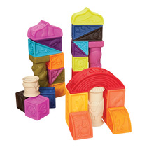 B music B Toys soft building blocks can bite soft relief building blocks Roman Castle baby puzzle early childhood toys