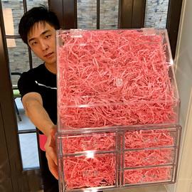 网红防尘桌面亚克力大容量化妆品收纳盒透明口红梳妆台桌面收纳架