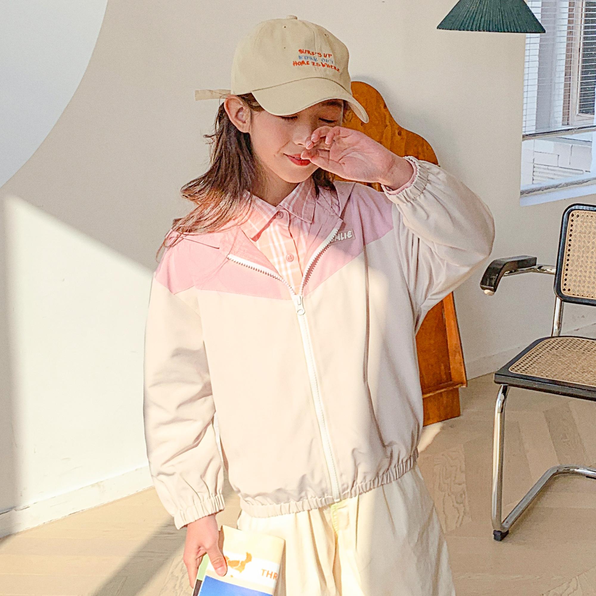 女童外套2021秋装新品中大童儿童外套休闲韩版风衣外套潮
