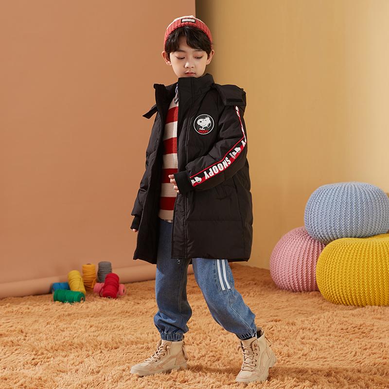 男童羽绒服2020冬新品中大童联名款连帽保暖白鸭绒儿童外套