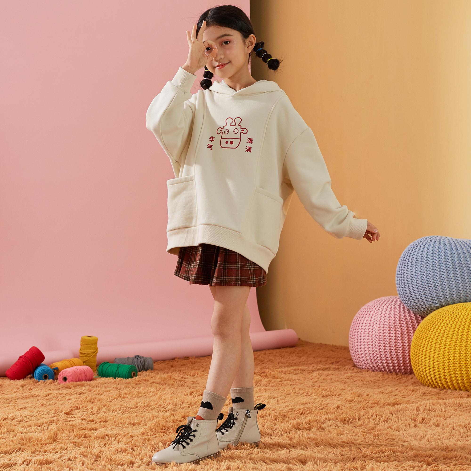 女童卫衣2021新款秋装中大儿童长袖运动休闲卫衣女童卫衣