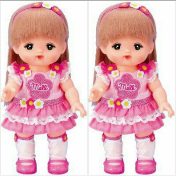 Japanese Milo doll accessories flower skirt family toy role play girl baby limited edition children's suit