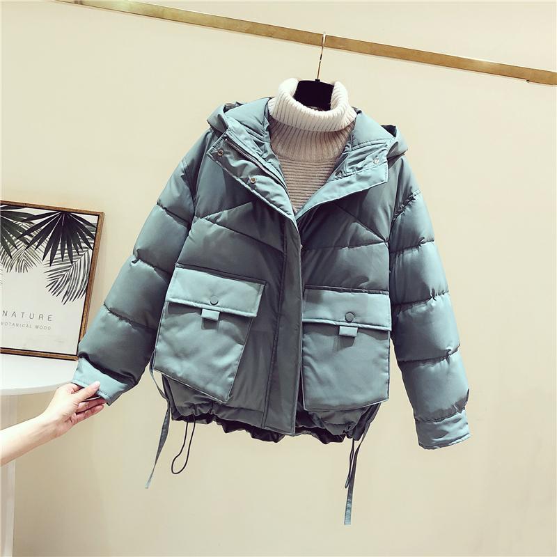 2020新款棉服女韩版短款宽松羽绒棉袄ins小个子连帽面包服外套冬