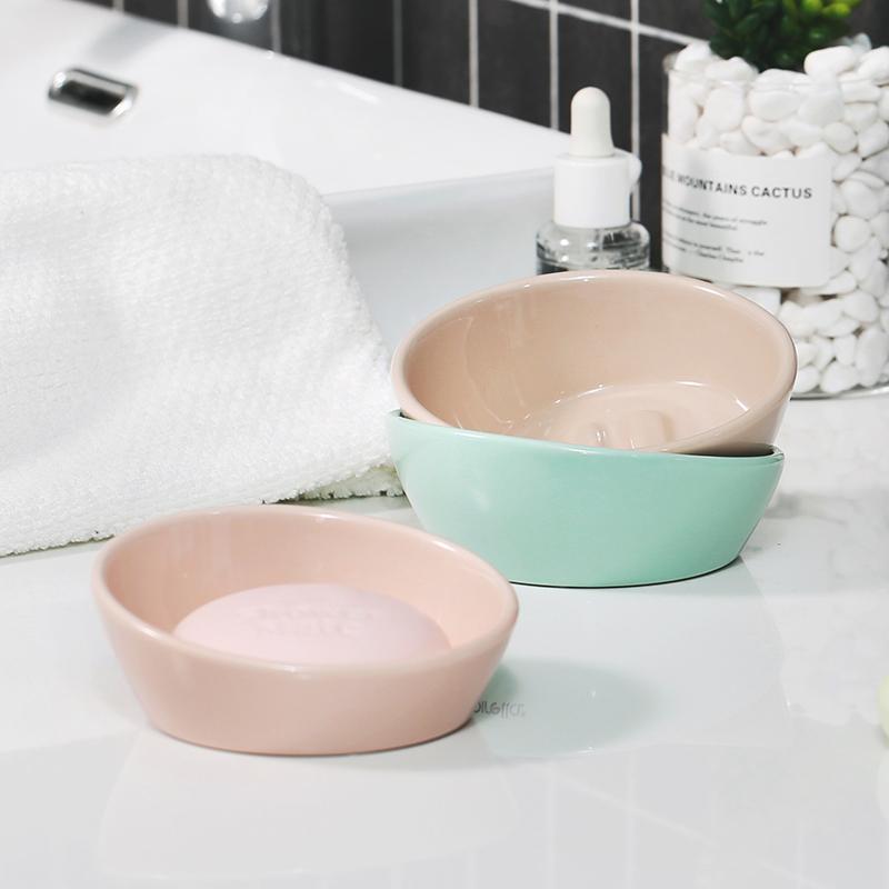 瑞士SPIRELLA素色Bail陶瓷时尚肥皂盒沥水香皂盒创意无盖手工皂托